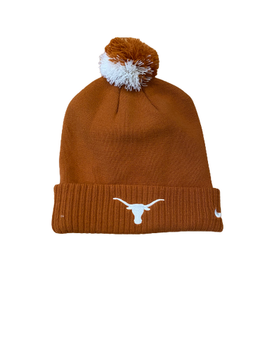 Tim Yoder Texas Football Team Issued Beanie Hat