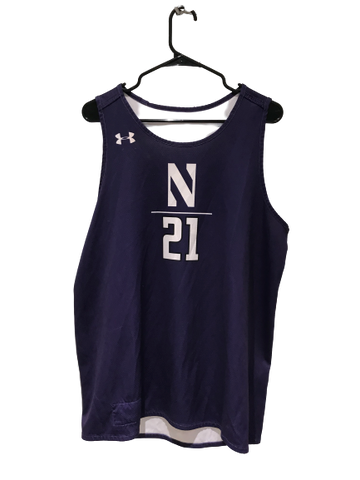A.J. Turner Northwestern Basketball Under Armour Reversible Practice Jersey