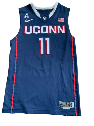 Ryan Boatright UCONN 2011-2012 Game Worn Jersey (Including NCAA Tournament) - Photo Matched