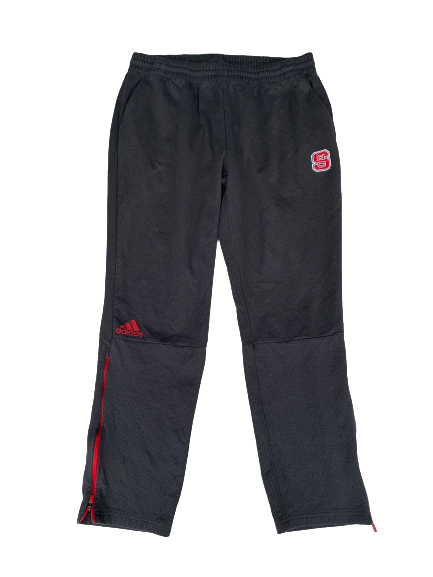 C.J. Bryce NC State Adidas Team Travel Pants (Size XL)