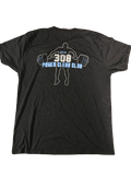 "Myles Dorn UNC Player Exclusive ""CAROLINA STRENGTH Power Clean Club "" T-Shirt (Size L)"
