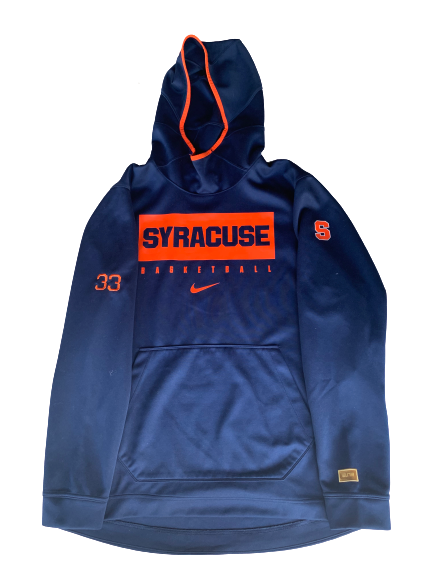 Elijah Hughes Syracuse Basketball Team Travel Hoodie (Size XL)