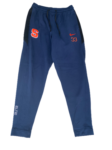 Elijah Hughes Syracuse Basketball Travel Joggers with Number (Size XLT)