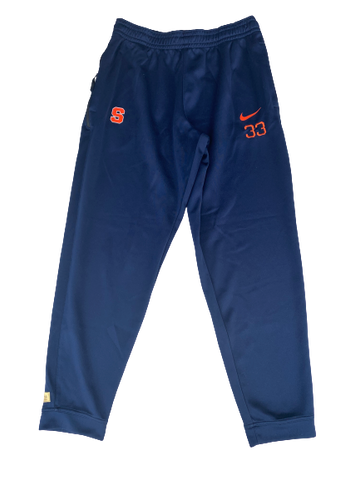 Elijah Hughes Syracuse Basketball Travel Pants with Number (Size XL)