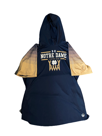 John Mooney Notre Dame Player Exclusive Short Sleeve Hoodie Pre-Game Warm-Up (Size XXL)