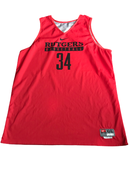C.J. Gettys Rutgers Basketball Reversible Practice Jersey (Size XXL)