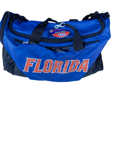 Drew Ferris Florida Team Issued Travel Duffel Bag with Travel Tag