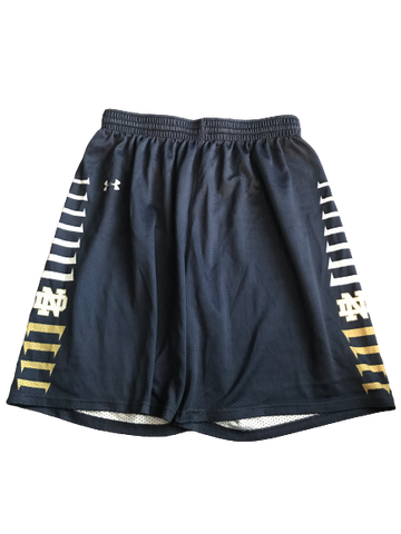 Elijah Burns Notre Dame Team Issued Practice Shorts (Size XL)