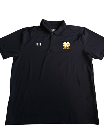 Elijah Burns Notre Dame Team Issued Polo Shirt (Size XXL)