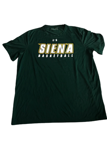 Elijah Burns Siena Basketball Team Issued Workout Shirt (Size XL)
