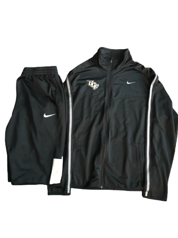 Tristan Reaves UCF Football Team Issued St. Petersburg Bowl Travel Set - Jacket & Sweatpants (Size XL)