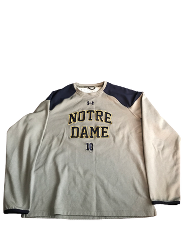 Nyles Morgan Notre Dame Team Issued Crewneck Sweatshirt (Size XL)
