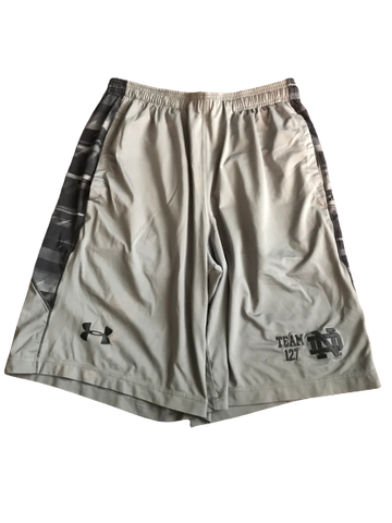 Nyles Morgan Notre Dame Team Exclusive Team 137 Shorts (Size M)