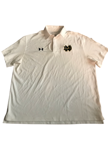 Nyles Morgan Notre Dame Team Exclusive Polo Shirt with Number on Back (Size XL)