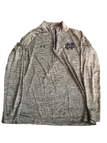 Nyles Morgan Notre Dame Team Exclusive 2014 Shamrock Series Quarter-Zip Pullover (Size XL)