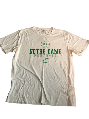 Nyles Morgan Notre Dame Team Issued Shirt (Size XL)