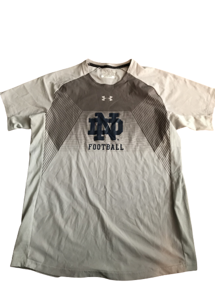 Nyles Morgan Notre Dame Team Issued Workout Shirt (Size XL)