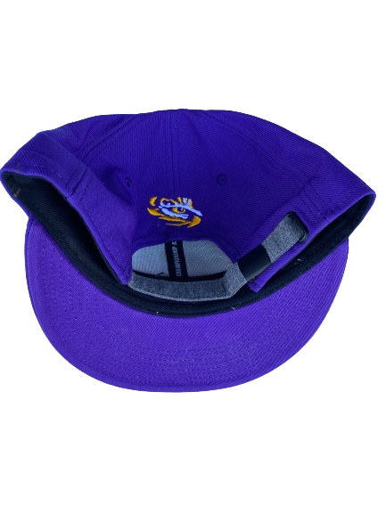 Garrett Brumfield LSU Football Team Issued Adjustable Hat