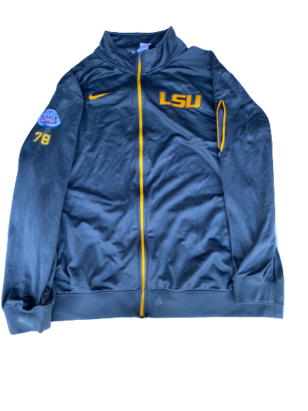 Garrett Brumfield LSU Football Player Exclusive Texas Bowl Jacket with Number (Size XXXL)