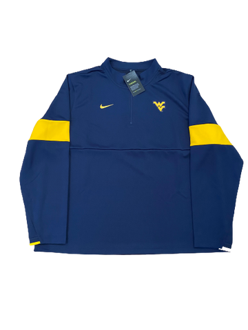 Austin Kendall West Virginia Football Nike 1/4 Zip-Up (New With Tags)(Size XXL)