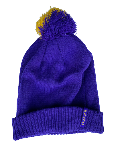 Garrett Brumfield LSU Football Team Issued Beanie Hat