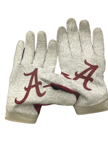 Dallas Warmack Alabama Signed Game Used Gloves