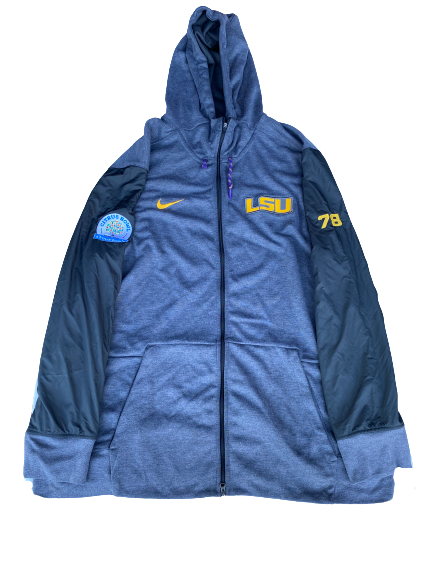 "Garrett Brumfield LSU Football Player Exclusive ""Citrus Bowl"" Jacket with Number (Size XXXL)"