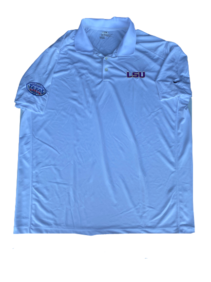 "Garrett Brumfield LSU Football Player Exclusive ""Texas Bowl"" Polo Shirt (Size XXXL)"