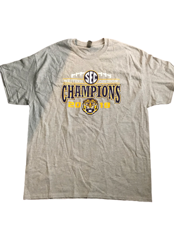 "Thaddeus Moss LSU Team Issued ""2019 SEC Champions"" T-Shirt (Size XL)"