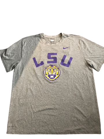 Thaddeus Moss LSU Team Issued T-Shirt (#82 on Back)(Size XXL)