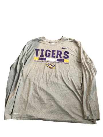Thaddeus Moss LSU Team Issued Long Sleeve Shirt (Size XL)