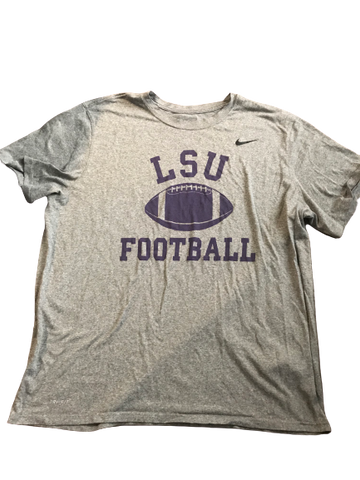 Thaddeus Moss LSU Team Issued T-Shirt with Number on Back (Size XXL)