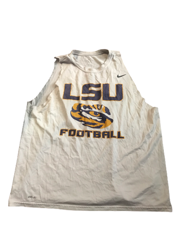 Thaddeus Moss LSU Team Issued Cut-Off Sleeveless Shirt (#81 on Back)(Size XXL)