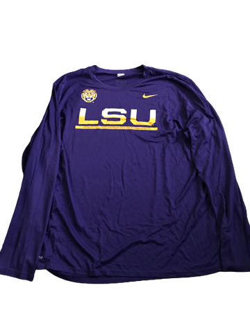 Thaddeus Moss LSU Team Issued Long Sleeve Shirt (Size XXL)