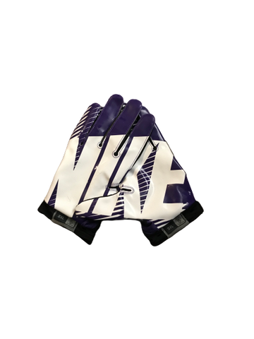 Thaddeus Moss LSU Team Issued Practice Worn Nike Football Gloves (Size XXXL)