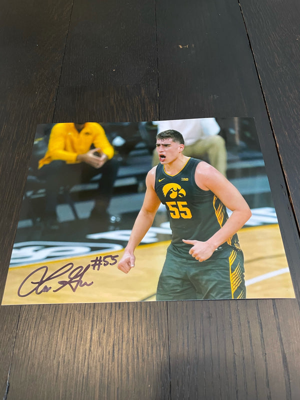 Luka Garza Iowa Basketball Autographed 8x10 Photo