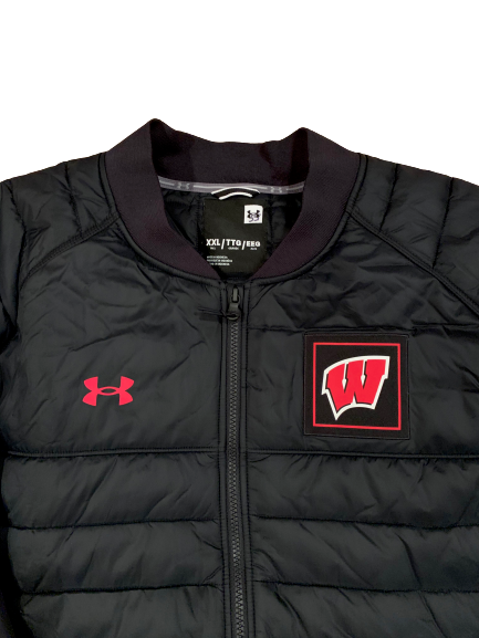 Nate Reuvers Wisconsin Basketball Team Issued Jacket (Size XXL)