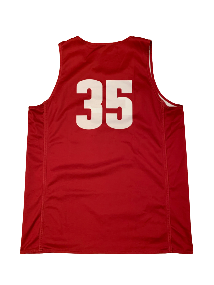 Nate Reuvers Wisconsin Basketball Team Exclusive Reversible Practice Jersey (Size XL)