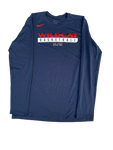 Nick Johnson Wildcat Basketball Nike Elite Long Sleeve Shirt (Size LT)