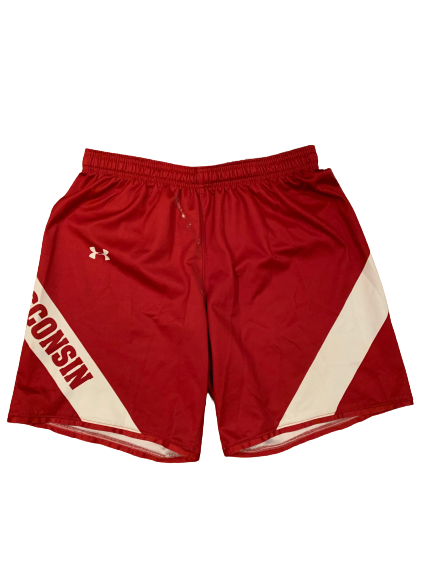 Nate Reuvers Wisconsin Basketball Team Exclusive Practice Shorts (Size XL)