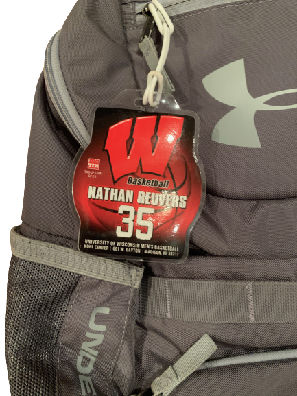 Nate Reuvers Wisconsin Basketball Team Exclusive Backpack