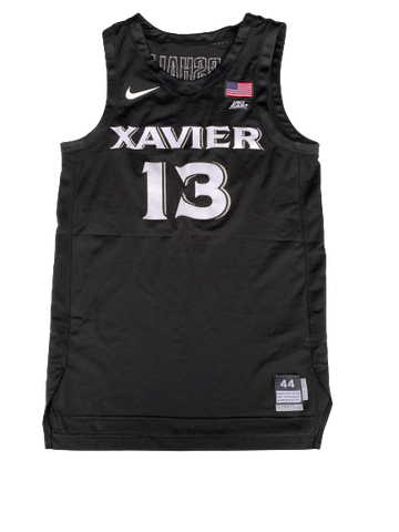 Naji Marshall Xavier 2018-2019 Game Worn Jersey - Photo Matched