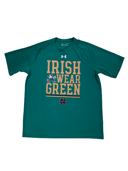 John Mahoney Notre Dame Football Team Issued Workout Shirt (Size L)