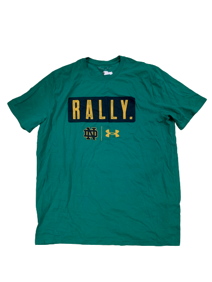 "John Mahoney Notre Dame Football Team Issued ""Rally"" T-Shirt (Size L)"