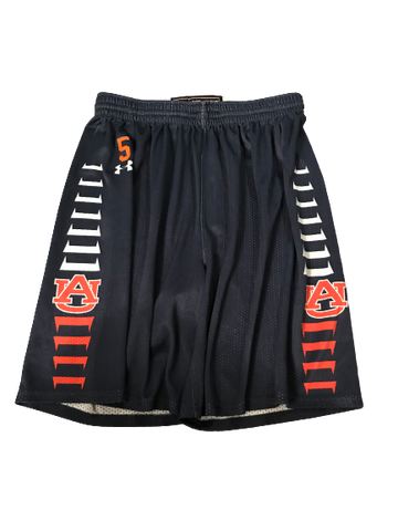 Chuma Okeke Auburn Basketball Practice Shorts With Number (Size XL)