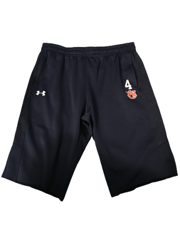 Chuma Okeke Auburn Under Armour Sweat Shorts With Number (Size XL)