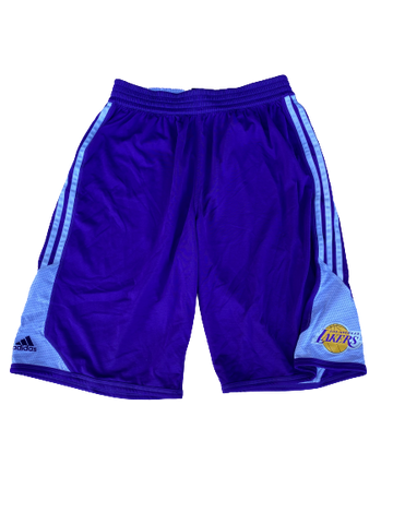 Byron Wesley Los Angeles Lakers Team Issued Workout Shorts (Size XL)