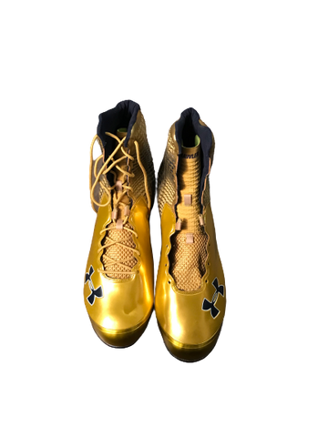 Jamir Jones Notre Dame Team Issued Under Armour Cleats (New) (Size 16)
