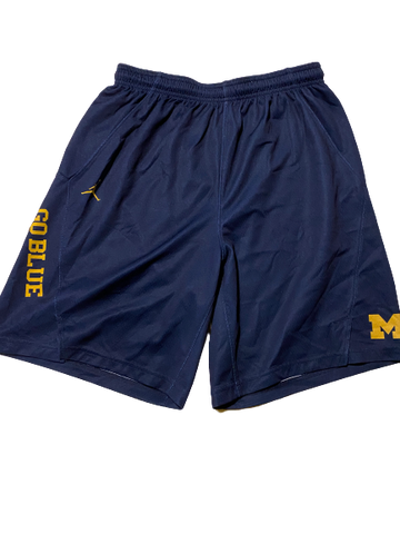 Charles Matthews Michigan Basketball Team Issued Practice Shorts (Size M)