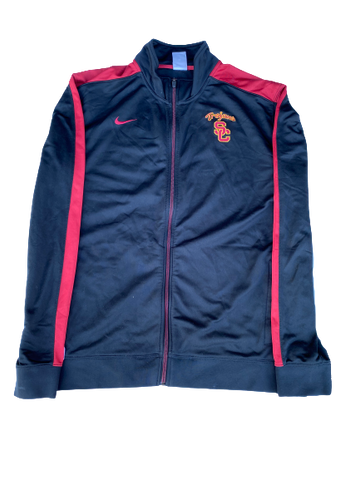 Byron Wesley USC Team Issued Full-Zip Jacket (Size XL)
